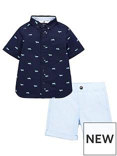 mini-v-by-very-2-piece-short-sleevenbspplane-print-shirt-and-shorts-set-blue