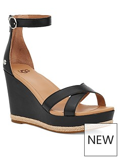 ugg-ezrah-wedge-sandal-black