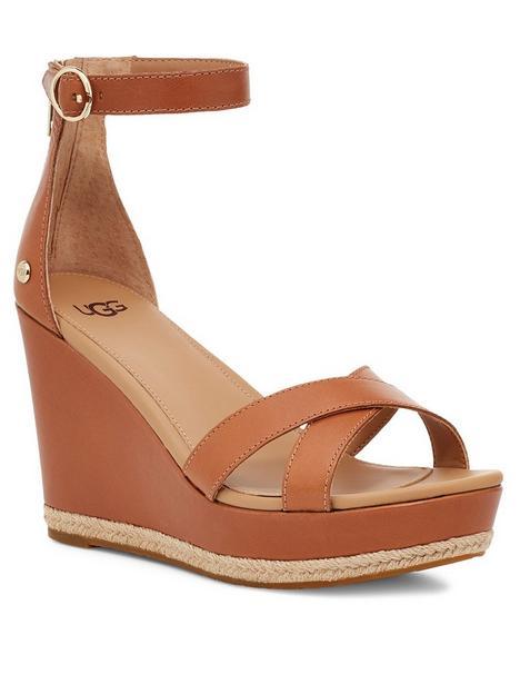 ugg-ezrah-wedge-sandal-tan