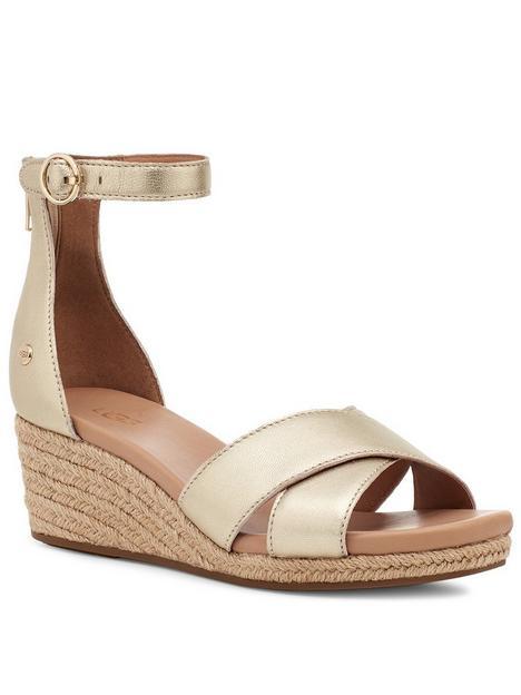 ugg-eugenia-wedge-sandal--nbspgold