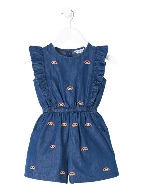 mini-v-by-very-girlsnbsprainbow-embellished-denim-playsuit-blue
