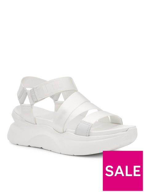 ugg-la-shores-wedge-sandal-white