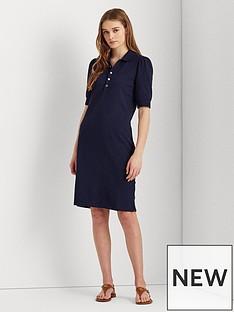 lauren-by-ralph-lauren-chace-short-sleeve-casual-dress-navy