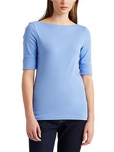 lauren-by-ralph-lauren-cottonnbspblend-boatneck-top-blue