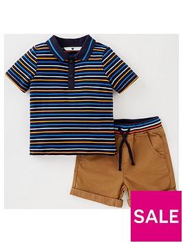 mini-v-by-very-boys-stripe-polo-and-short-set-multi
