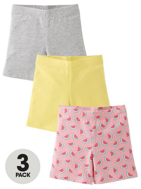 mini-v-by-very-3-pack-watermelon-cycling-shorts-multi