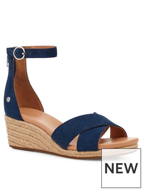 ugg-eugenia-wedge-sandal--nbspnavy