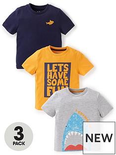 mini-v-by-very-boys-3-packnbspneon-shark-and-slogan-short-sleeve-t-shirts-multi