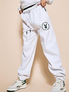 missguided-missguided-playboy-varsity-pin-tuck-oversized-joggers-grey-marl
