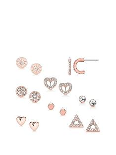 buckley-london-buckley-london-rose-gold-8-pack-stud-earrings