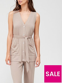 v-by-very-button-down-top-co-ord-oatmeal-marlnbsp