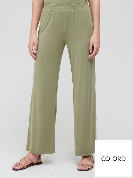 v-by-very-premium-wide-leg-co-ord-pant-olive