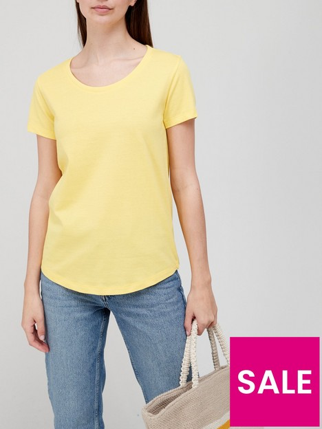 v-by-very-the-essential-scoop-neck-t-shirt-lemon