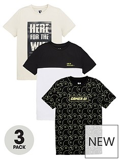 v-by-very-boys-here-for-the-wifigaming-3-pack-short-sleevenbspt-shirts-multi