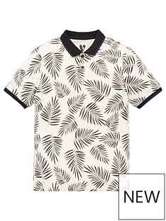 v-by-very-boys-mini-me-leaf-print-single-short-sleevenbsppolo-shirt-multi