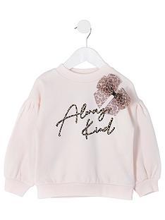 river-island-mini-girls-always-kind-bow-sweat-top-pink