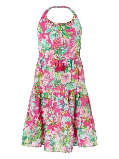 monsoon-girls-sew-palm-print-halter-midi-dress-pink