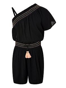 monsoon-girls-sew-storm-shirred-one-shoulder-playsuit-black