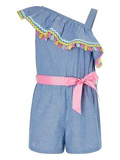 monsoon-girls-chambray-ricrac-one-shoulder-playsuit-blue