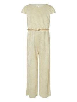 monsoon-girls-shimmer-jersey-jumpsuit-with-belt-gold