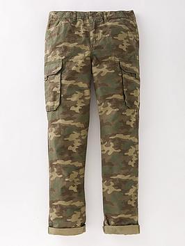 Fatface Boys Hutton Camo Cargo Trousers - Khaki