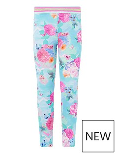 monsoon-girls-floral-print-leggings-turquoise