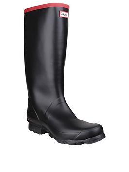 hunter-argyll-full-knee-boots-black