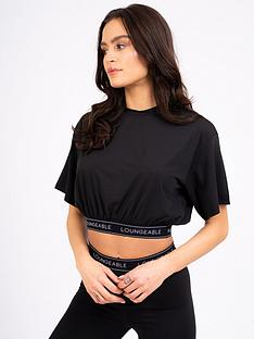 loungeable-loungeable-short-sleeve-loose-fit-lounge-top