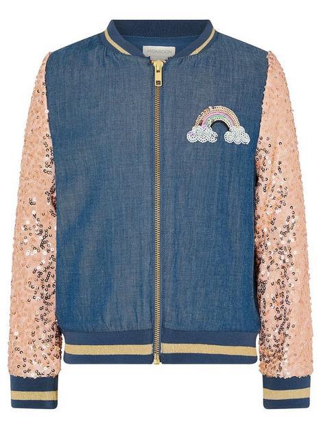 monsoon-girls-sequin-unicorn-denim-bomber-jacket-blue