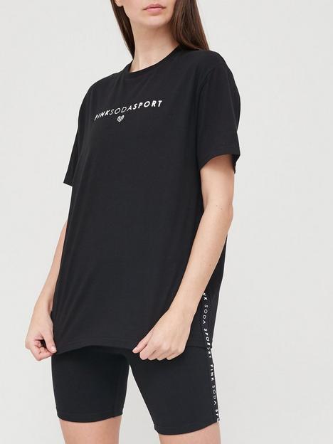 pink-soda-cora-tape-boyfriendnbspt-shirt-blacknbsp