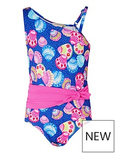 monsoon-girls-shell-print-belted-swimsuit-multi