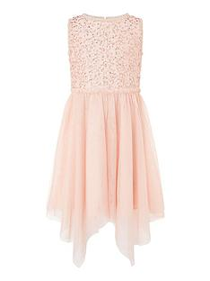 monsoon-girls-sequin-frill-hanky-hem-dress-peach