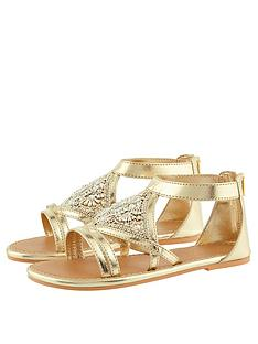 monsoon-girls-diamond-shape-beaded-sandal-gold