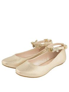 monsoon-girls-butterfly-strap-ballerina-gold