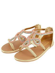 monsoon-girls-plait-multi-beaded-sandal-gold