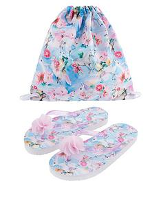 monsoon-girls-unicorn-floral-flip-flop-and-bag-set-blue