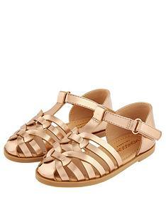 monsoon-baby-girls-caged-sandal-rose-gold