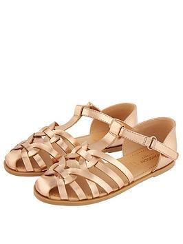 monsoon-girls-caged-sandal-rose-gold