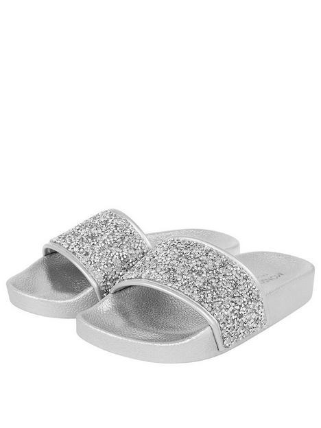 monsoon-girls-dazzle-slider-silver