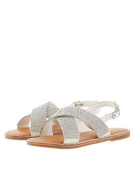monsoon-girls-diamante-sandal-silver
