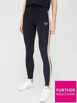pink-soda-bay-tape-legging-black