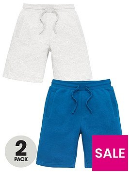v-by-very-boys-essential-2-pack-jog-shorts-greyteal