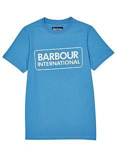barbour-international-boys-essential-logo-t-shirt-blue