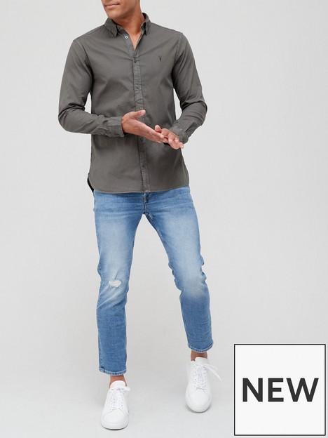allsaints-hawthorne-long-sleeve-shirt-charcoalnbsp