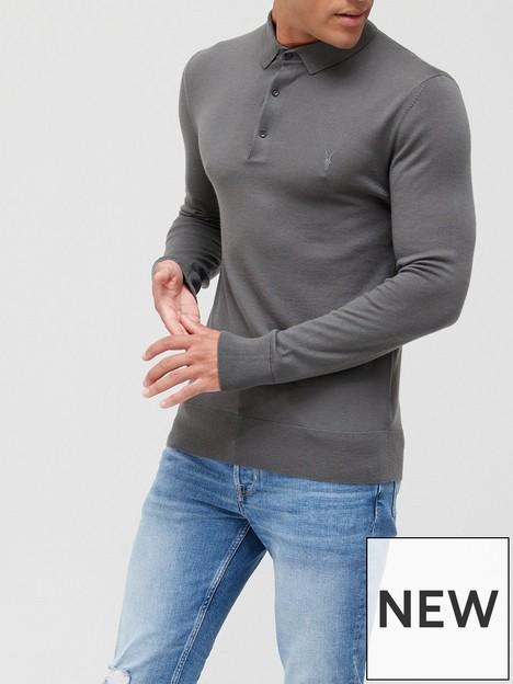 allsaints-mode-merino-wool-long-sleeve-knitted-polo-shirt-grey