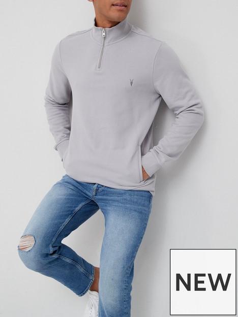 allsaints-raven-quarter-zip-sweatshirt-grey