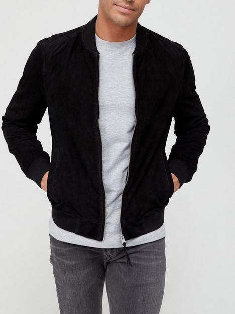 allsaints-ronan-suede-bomber-jacket-black