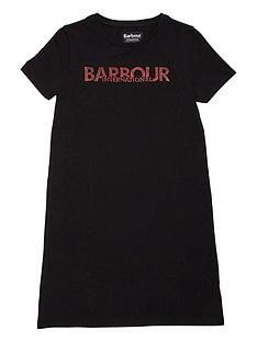 barbour-international-girls-drift-t-shirt-dress-black