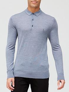 allsaints-mode-merino-wool-knitted-long-sleevenbsppolo-shirt-grey