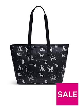 radley-maple-cross-fun-pups-medium-zip-top-tote-bag-black